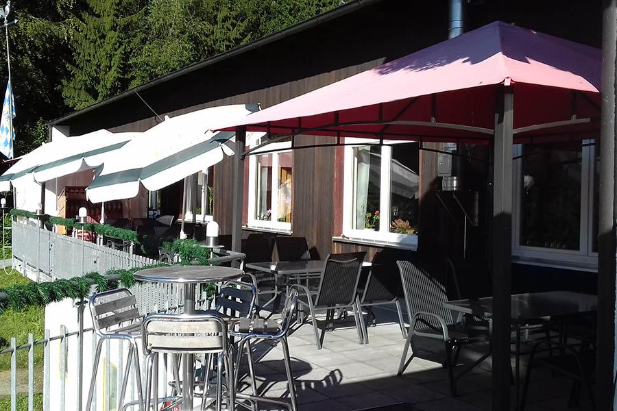 Terrasse / Biergarten - Schützenhaus Jodlerwirt in Passau Grubweg